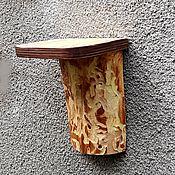 Для дома и интерьера handmade. Livemaster - original item Wood wall shelf for flowers. Handmade.