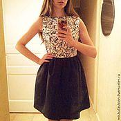 Одежда ручной работы. Ярмарка Мастеров - ручная работа Черно-белое платье. Handmade.