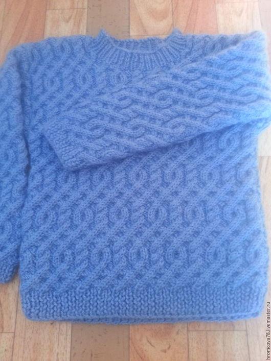 Кофты и свитера ручной работы. Ярмарка Мастеров - ручная работа. Купить джемпер на мальчика. Handmade. Голубой, джемпер на мальчика