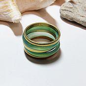 Украшения handmade. Livemaster - original item A set of rings 19.25 size No. №3 (chrysoprase, Golden). Handmade.