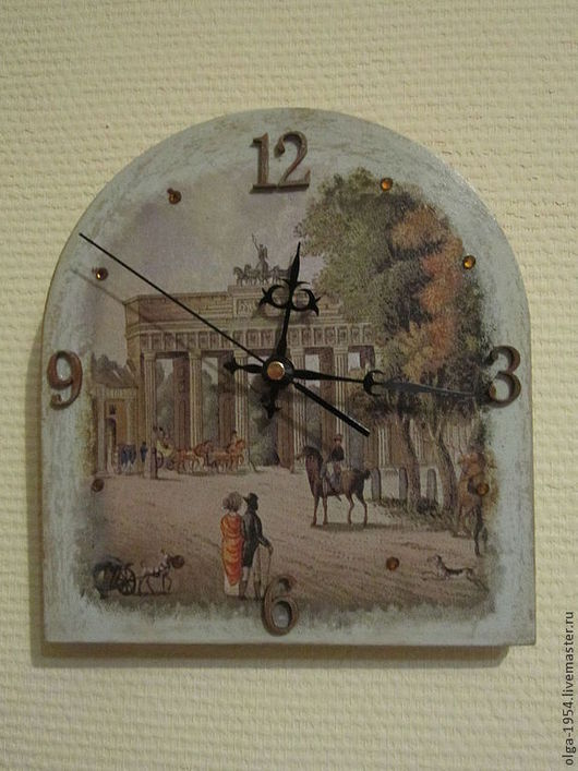 """Часы для дома ручной работы. Ярмарка Мастеров - ручная работа. Купить Часы """"Галантный век"""". Handmade. Серый, старинный стиль"""