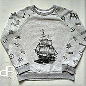 """Одежда ручной работы. Ярмарка Мастеров - ручная работа Свитшот """"Корабль"""". Handmade."""