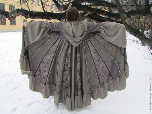 """Верхняя одежда ручной работы. Ярмарка Мастеров - ручная работа. Купить Лоскутное пальто """"Лесная фея"""". Handmade. Коричневый"""