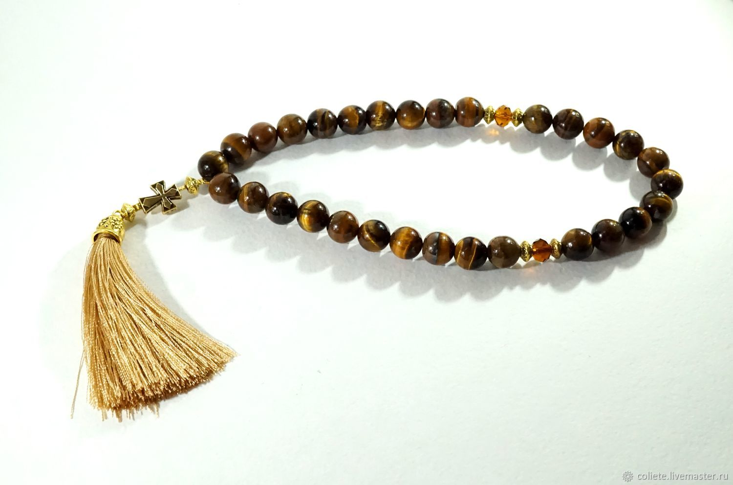 Beads of tiger eye'the joy of Prayer'!, Rosary, Moscow,  Фото №1
