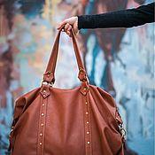Сумки и аксессуары handmade. Livemaster - original item Bag leather red Big Size. Handmade.