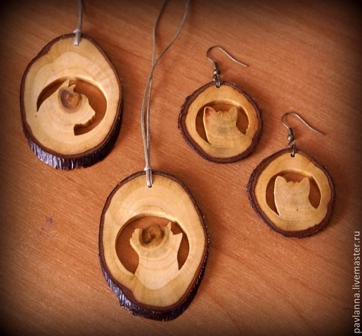 Как сделать медальон из дерева