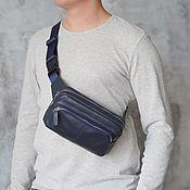 Сумки и аксессуары handmade. Livemaster - original item Men`s leather waist bag