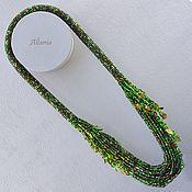 Украшения handmade. Livemaster - original item Mavka - necklace with beaded strands. Handmade.