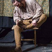 Обувь ручной работы. Ярмарка Мастеров - ручная работа Средневековая обувь из кожи коричневая. Handmade.
