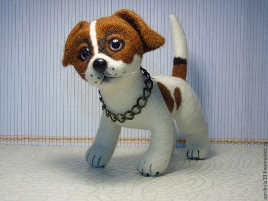 Игрушки животные, ручной работы. Ярмарка Мастеров - ручная работа. Купить Валяная  игрушка  собака по имени Джейк. Игрушка из шерсти.. Handmade.
