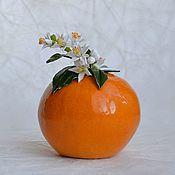 Вазы ручной работы. Ярмарка Мастеров - ручная работа Керамика Апельсинка. Handmade.