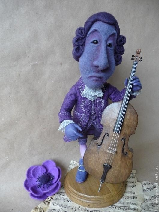 Коллекционные куклы ручной работы. Ярмарка Мастеров - ручная работа. Купить Мсье Жан Баклажан...Менуэт...Авторская кукла в смешанной технике.. Handmade.