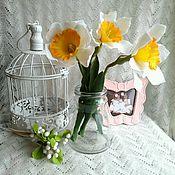 Цветы и флористика ручной работы. Ярмарка Мастеров - ручная работа Нарциссы из холодного фарфора. Handmade.