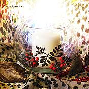 """Для дома и интерьера ручной работы. Ярмарка Мастеров - ручная работа Ваза """"Рябиновая осень"""". Handmade."""