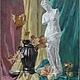 Натюрморт ручной работы. Ярмарка Мастеров - ручная работа. Купить Картина маслом. Натюрморт. Венера в листьях 60х80. Handmade. Розовый