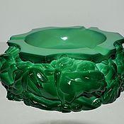 Винтаж handmade. Livemaster - original item Large ashtray malachite glass Hoffmann Schlevogt 1936. Handmade.