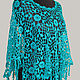Order Crocheted openwork poncho. Knitted things. Livemaster. . Ponchos Фото №3