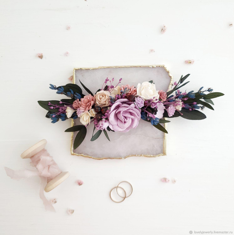 b658e9e4bb77 Свадебные украшения ручной работы. Заказать Цветочная веточка в прическу  -Lavender wedding.