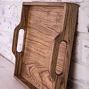 Для дома и интерьера handmade. Livemaster - original item Tray for Breakfast ash. Handmade.