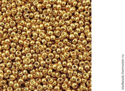 Для украшений ручной работы. Ярмарка Мастеров - ручная работа. Купить Бисер 15/0 круглый Miyuki 4202 Duracoat Galvanized Gold. Handmade.