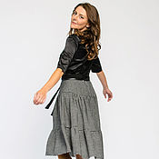 Одежда handmade. Livemaster - original item Skirt with flounces made of wool (Ref. 5056). Handmade.