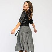 Одежда handmade. Livemaster - original item Skirt with flounces made of wool (Ref. 5056). Handmade.