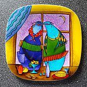 """Посуда ручной работы. Ярмарка Мастеров - ручная работа Декоративая тарелка""""Частушки"""". Handmade."""