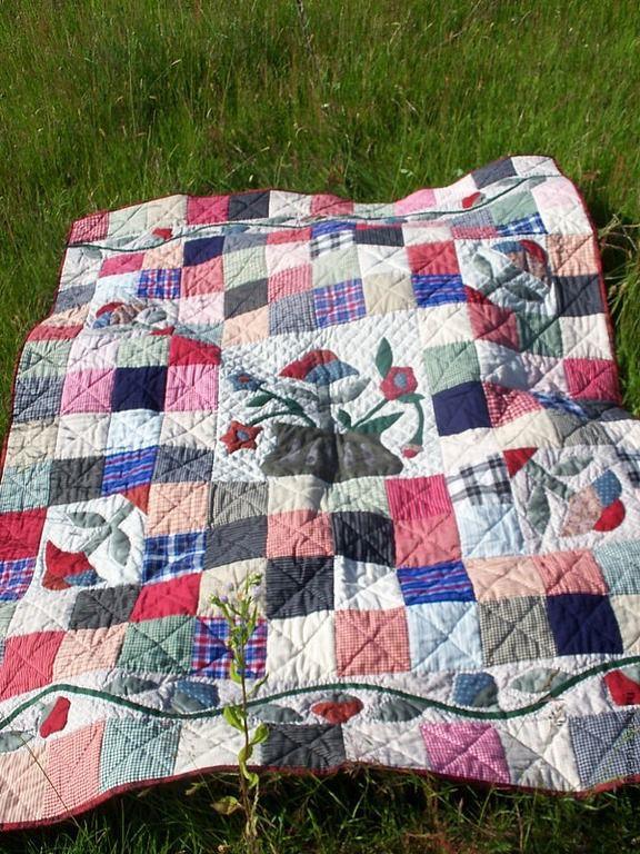 """Текстиль, ковры ручной работы. Ярмарка Мастеров - ручная работа. Купить Лоскутное одеяло """"Деревенское"""". Handmade. Лоскутное одеяло"""