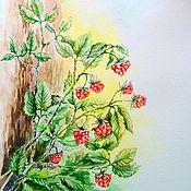 """Картины и панно ручной работы. Ярмарка Мастеров - ручная работа картина """"Малинка"""". Handmade."""