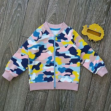 Clothing handmade. Livemaster - original item The children`s bomber jacket with zipper. Handmade.