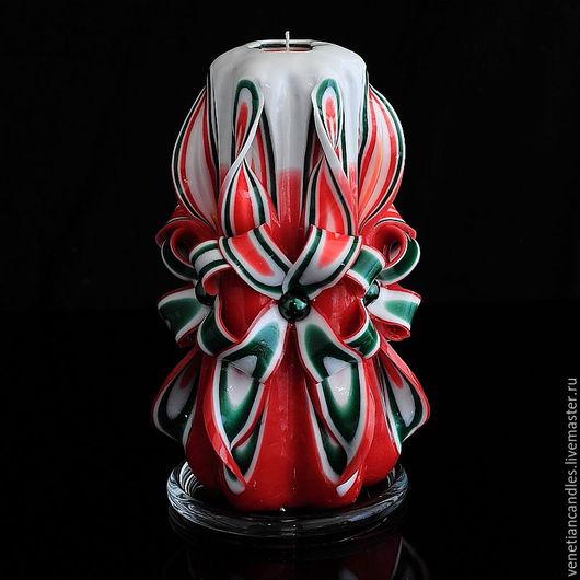 Свечи ручной работы. Ярмарка Мастеров - ручная работа. Купить Резная свеча 264. Handmade. Декоративные свечи, свеча