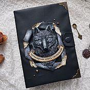 Канцелярские товары handmade. Livemaster - original item Cookbook wolf. Handmade.