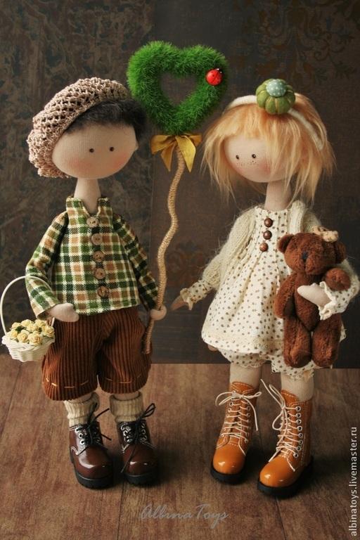 Коллекционные куклы ручной работы. Ярмарка Мастеров - ручная работа. Купить Куклы. Текстильные куклы малыши  Маня и Саша.. Handmade.