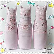 Куклы и игрушки ручной работы. Ярмарка Мастеров - ручная работа Мишки с вышивкой( в наличии 3 мишки). Handmade.