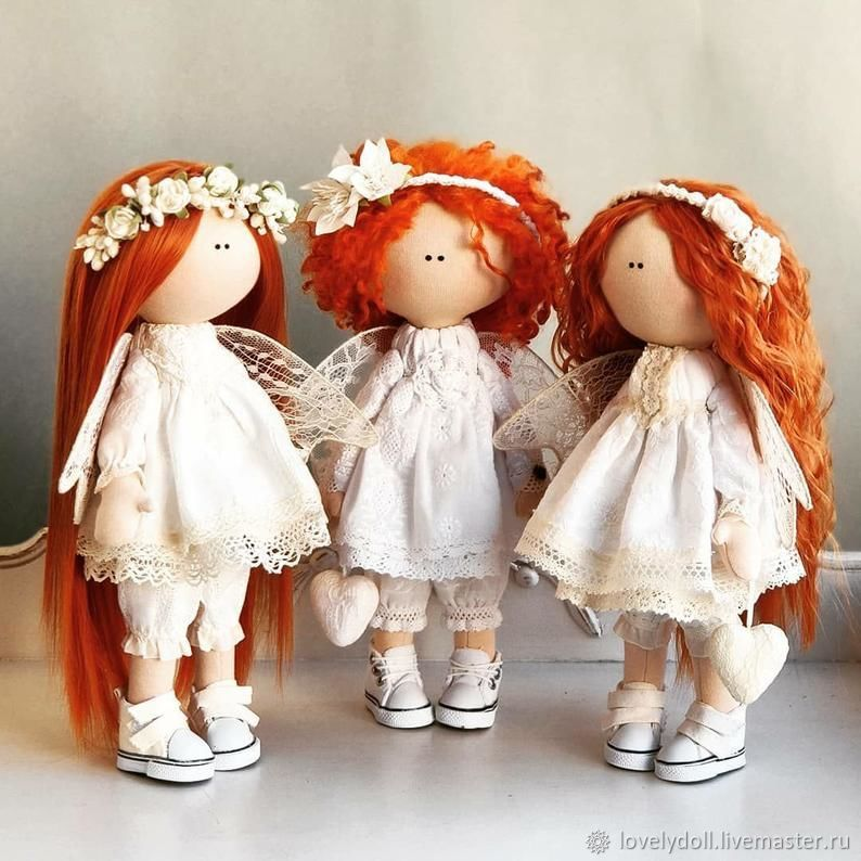 Doll: Red angels handmade Textile doll, Dolls, Kiev,  Фото №1