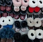 Обувь ручной работы. Ярмарка Мастеров - ручная работа Пинетки с опушкой распродажа. Handmade.