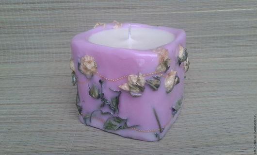 """Свечи ручной работы. Ярмарка Мастеров - ручная работа. Купить Ароматическая свеча из соевого воска """"Вальс роз"""" Эко-свеча. Handmade."""