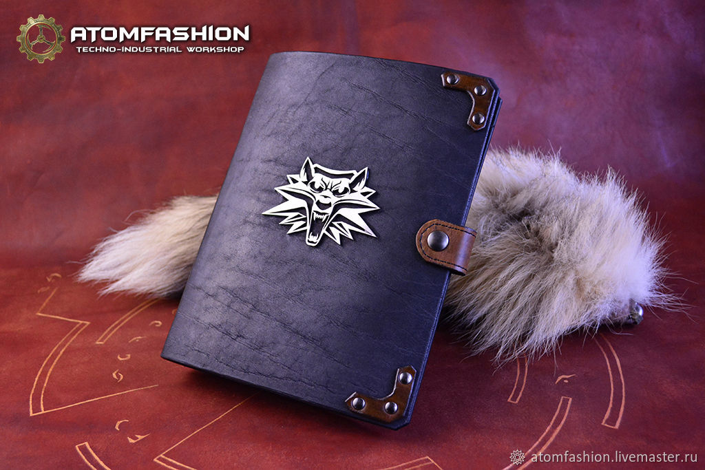 The Witcher leather writing-book, Notebooks, Moscow,  Фото №1