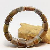 Украшения handmade. Livemaster - original item Bracelet from chalcedony Caramel coffee. Handmade.