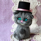 Куклы и игрушки handmade. Livemaster - original item Cheshire in the hat toy is made of wool. Handmade.