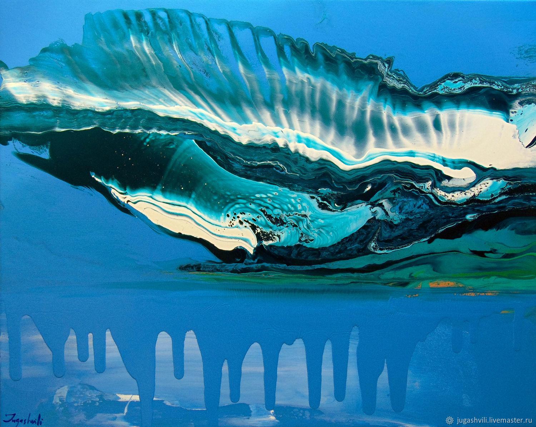 Абстракция ручной работы. Ярмарка Мастеров - ручная работа. Купить Над горизонтом 2 (Above the Horizon 2). Handmade.
