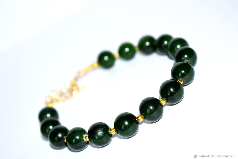 Bracelet jade. Sayan, Bead bracelet, Moscow,  Фото №1