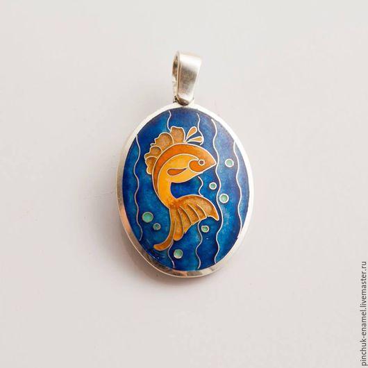 """Кулоны, подвески ручной работы. Ярмарка Мастеров - ручная работа. Купить Кулон """"Золотая рыбка"""". Handmade. Кулон, серебро"""