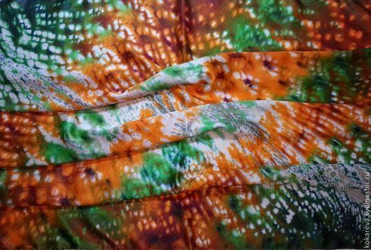 Шали, палантины ручной работы. Ярмарка Мастеров - ручная работа. Купить Шелковый платок «Настроение». Handmade. Зеленый, 100% шелк