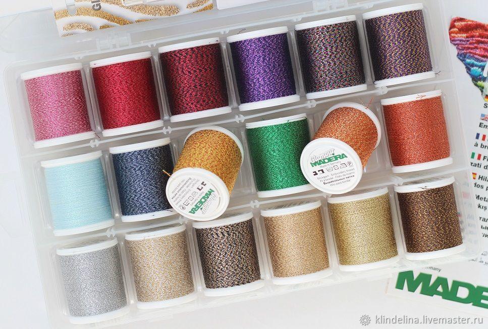 Набор ниток Madeira Glamour №12 18 цветов, 200 м, Нитки, Калуга,  Фото №1