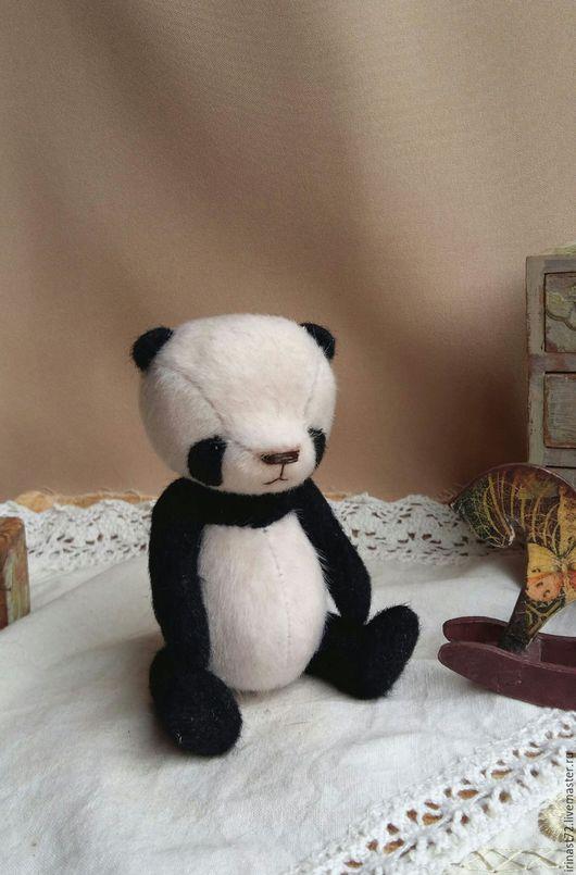 Мишки Тедди ручной работы. Ярмарка Мастеров - ручная работа. Купить Платоша. Handmade. Чёрно-белый, подарок