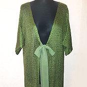 """Одежда ручной работы. Ярмарка Мастеров - ручная работа Вязанный кардиган """"Зеленый чай"""" из ангоры. Handmade."""