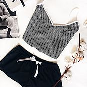 Одежда ручной работы. Ярмарка Мастеров - ручная работа Пижама из хлопка. Handmade.