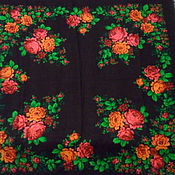 Винтаж handmade. Livemaster - original item Vintage handkerchief Roses,100% wool,vintage Germany. Handmade.