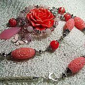 """Украшения ручной работы. Ярмарка Мастеров - ручная работа """"Розовое счастье! Wire Wrap. Handmade."""